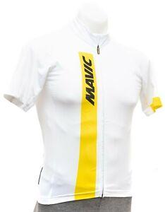 Mavic Cosmic Short Sleeve Cycling Jersey Men SMALL White Road Bike Gravel Race