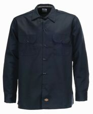 Dickies Langarm Shirt Slim Work Dark DUNKELBLAU L