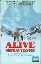 Sopravissuti  ALIVE  (1993)  VHS  CiC Video  Frank Marshall Vincent Spano