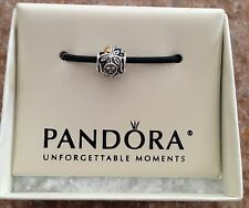 FAMILY TREE Authentic PANDORA Silver/14K GOLD/ CLEAR CZ STONES Charm/Bead NEW