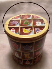 Ginger Bread Cookie Pail Tin Music Box - Jingle Bell Rock
