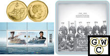 2010 Navy $1 Gold-Plated Coin & Stamp Set (12743)