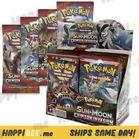 Pokemon Crimson Invasion Booster Box Card Packs🍯SUN & MOON TCG Theme Decks