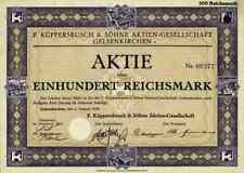 F. Küppersbusch & Söhne 1928 Gelsenkirchen Dortmund Trier Wels 100 RM Lipsheim