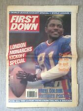 VINTAGE FIRST DOWN AMERICAN FOOTBALL UK NEWSPAPER ISSUE 249 MARCH 23RD 1991