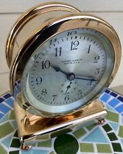"""Chelsea Clock 3 1/2"""" Dial """"Desk Clock"""" Time Only Red Brass Ca.1927"""