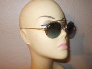 Ray-Ban RB 3847N 9123/3M Gold Frame Blue Sunglasses
