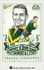 2008 NRL Centenary Of R. L Immortals Sketch Card IMSK5 Graeme Langlands (Dragon)