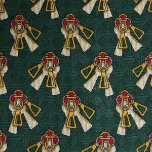 Green Equestrian Silk Tie