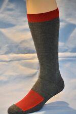 4 pr Men's XTREME Merino Wool Mid-Volume Boot Socks RED/GRAY 9-11
