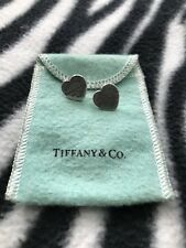 "Tiffany & Co ""Return To Tiffany"" Silver Heart-Shaped Earrings!"