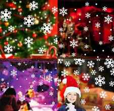 White Snow Snowflake Frozen Decal Window Wall Sticker Vinyl Art Christmas Decor