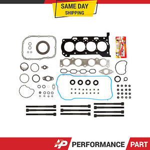 Full Gasket Set Head Bolts for 10-13 Toyota Prius Lexus CT200H 1.8 2ZRFXE