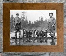 "Vintage Fishing ... Stringer of Trout & Fly Rods... Antique 8""x12"" Photo Print"