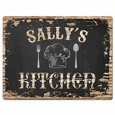 PP1998 SALLY'S KITCHEN Plate Chic Sign Home Room Kitchen Decor Birthday Gift