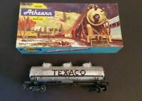 Athearn HO Scale 1501 Texaco 3 Dome Tank Car Kit TCX 270 Train With Box