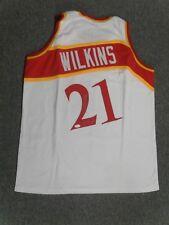 Dominique Wilkins Autographed White Hawks Custom Jersey