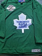 Toronto Maple Leafs Vintage CCM GREEN Practice Jersey Centre Ice NHL