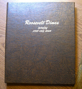 1946-1980 Roosevelt dime BU and Proof collection NEW Dansco Album #8125