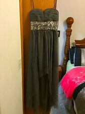 Gray short in the front long in the back formal/homecoming dress size 7/8