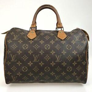 100% Authentic Louis Vuitton Monogram Speedy 30 Handbag M41526 [Used] {07-013B}