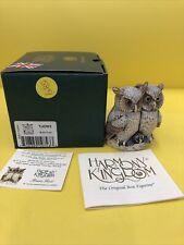 Harmony Kingdom Brain Trust Owls Uk Made Marble Resin Box Figurine Sgn