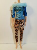 NEW BLUE BROWN PRINTS JUMPSUIT BOTTOM BARBIE FASHIONISTAS CLOTHES MODERN FASHION