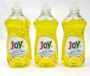 Joy Dishwashing Liquid Lemon Scent 12.6 Fl Oz 37.8 Fl. Oz Total Lot of 3