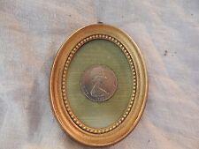 Set of 2 Framed 1969 New Zealand One Dollar Coins Queen Elizabeth II Cook Oval
