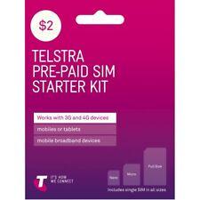 Telstra $2 starter sim pack.