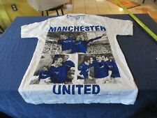 Manchester United 7 Elements White T Shirt Size Men's M Styled in Italy Football