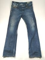 bdb31477 DIESEL HEEVEN BUTTON FLY JEANS SIZE 32 X 32 (actual 34x32) DISTRESSED