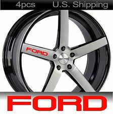 4 FORD Stickers Decals Wheels Door handle Mirror Mustang Racing Sport RED