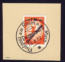 Deutsche Reich 1912 Flugpost Mi. IV (*) Gelber Hund gestempelt   Fälschung