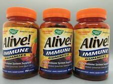 Nature's Way, Alive! Immune Gummies Grape & Cherry 3 Pack 90 Ct Each Exp 11/20