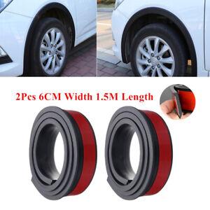 1.5M * 6CM Car Wheel Eyebrow Extension Protector Arch Extenders Black Universal