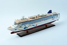 "Norwegian Dawn Dolphin Artwork Cruise Ship 40"" Handcrafted Wooden Ship Model"