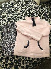 Atmosphere Primark Pink & Grey Fleece Loungewear Suit Pjamas - 12/14 Worn Once