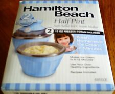 Hamilton Beach Half Pint Soft-Serve Ice Cream Maker, 68550E, Brand New