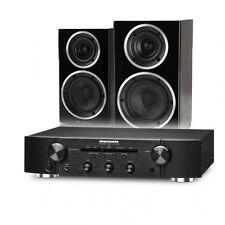 Marantz PM5005 Amp+Wharfedale Diamond 220 Speaker Bundle Package Black+QED79-5M