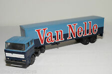 LION CAR DAF 2800 TRUCK WITH TRAILER VAN NELLE NEAR MINT CONDITION