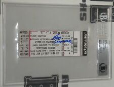 Ken Shamrock Signed Bellator 138 Kimbo Slice Ticket BAS COA UFC Gem Mint 10 Auto