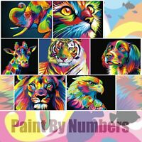 Animals Dog Lion Cat Lizard Design Paint By Numbers Oil Painting DIY Canvas Kit