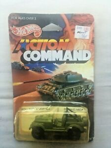 Hot Wheels Roll Patrol Jeep CJ Action Command Series #9375 NRFP 1984 Olive 1:64