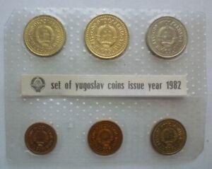 1982 YUGOSLAVIA - OFFICIAL BU MINT SET (6) - PARA & DINARA - NBJ SEALED - RARE