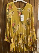 Zara  Floral  Yellow Mini dress/ Long Top