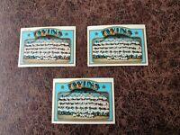 (3) 1972 TOPPS Baseball Minnesota Twins Team Card #156 - Rod Carew