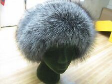 Silver  Fox Wrap Fur Hat