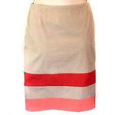 Boss Hugo Boss Women's Size 4 Straight Pencil Skirt Verenice Striped Khaki