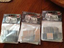 "Craft supplies mirror tiles bags 75 tiles 1inch 1"""